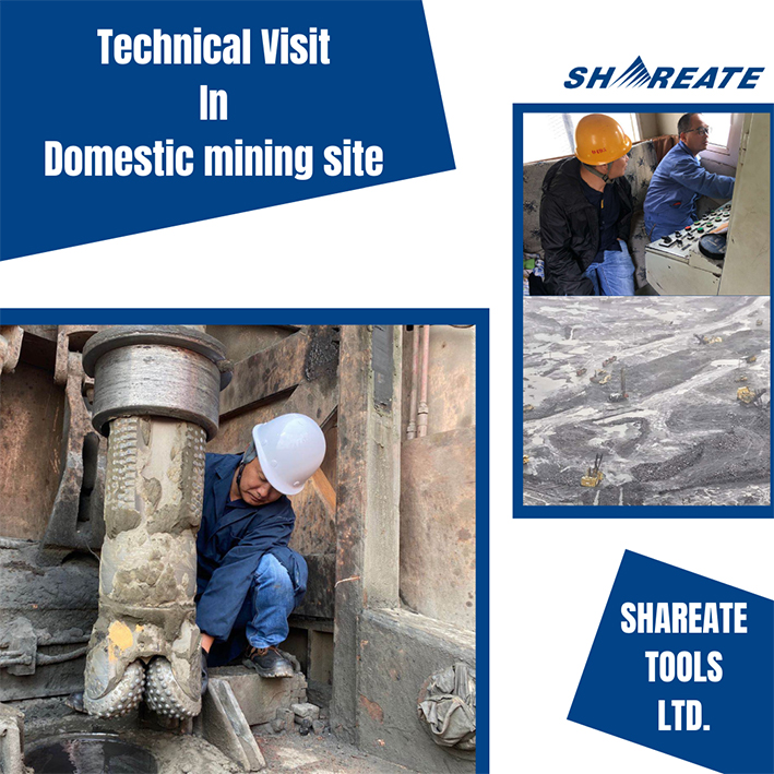 shareate service for customers of tricone bit in mines.